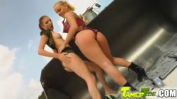 Hot teen pussy comes special delivery for these guys